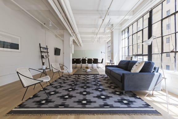 Workspace fully furnished and equipped located at 601 West 26th Street, #M201, New York City.