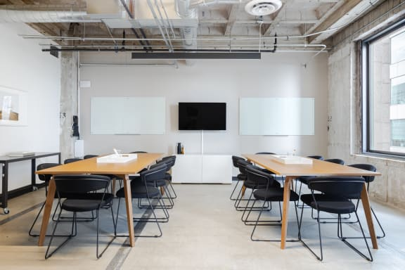 Workspace fully furnished and equipped located at 601 W. 5th St., #2, Los Angeles.