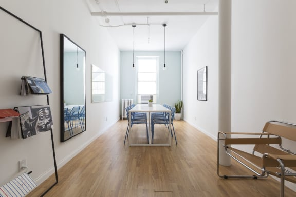 Workspace fully furnished and equipped located at 648 Broadway, #910, New York City.