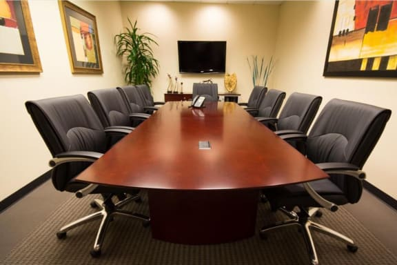 Workspace fully furnished and equipped located at 70 East Lake Street, Chicago.