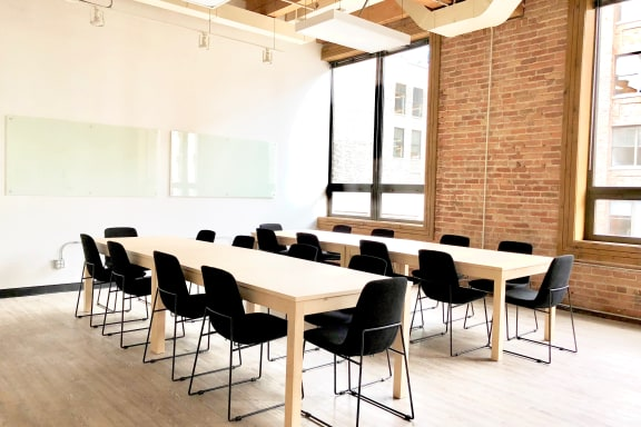 Workspace fully furnished and equipped located at 720 N. Franklin, #402-1, Chicago.