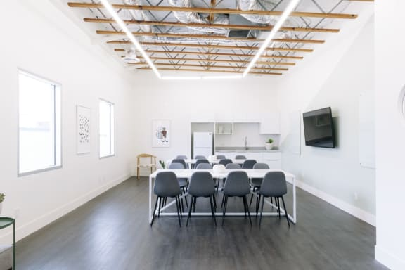 Workspace fully furnished and equipped located at 7561 Sunset Blvd., #202, Los Angeles.