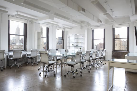 Workspace fully furnished and equipped located at 80 8th Avenue, #1216, New York City.