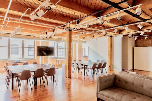 Workspace fully furnished and equipped located at 954 W. Washington Blvd., #402, Chicago.