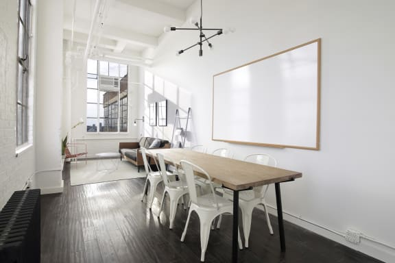 Workspace fully furnished and equipped located at 601 West 26th Street, #1890, New York City.