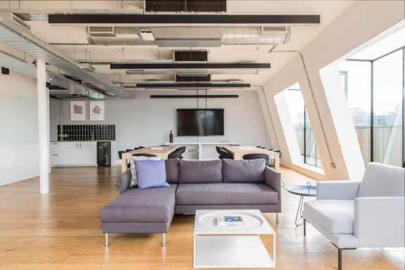 Office space fully furnished and equipped located at 80 Clerkenwell Road, Clerkenwell, #The Penthouse, Clerkenwell.