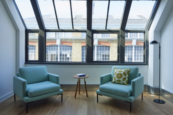 Workspace fully furnished and equipped located at 100 Clifton Street, Shoreditch, #1, London.