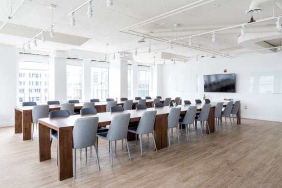 Workspace fully furnished and equipped located at 1100 G Street NW, #1030-1, Washington DC.