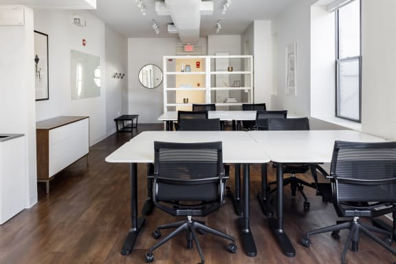 Office space fully furnished and equipped located at 2122 P Street NW, #200-1, Dupont Circle.