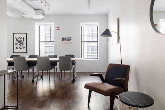 Office space fully furnished and equipped located at 2122 P Street NW, #200-2, Dupont Circle.