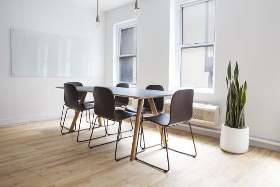 Workspace fully furnished and equipped located at 9 East 53rd Street, #2, New York City.