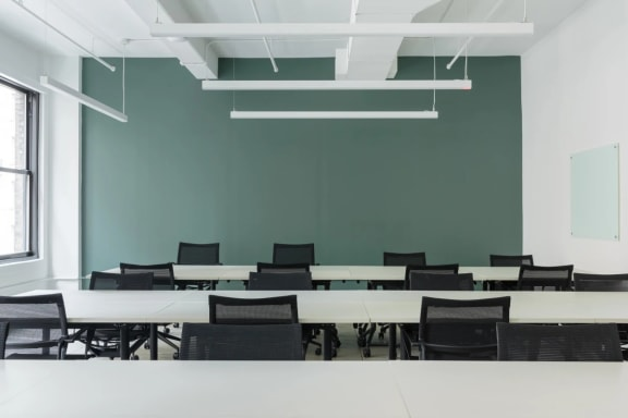 Office space fully furnished and equipped located at 1450 Broadway, New York City.