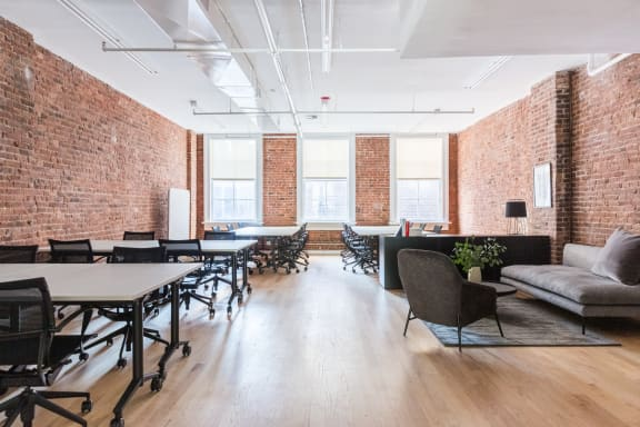 Office space fully furnished and equipped located at 460 Broome Street, #400, New York City.