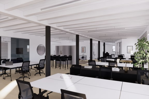 Office space fully furnished and equipped located at 54 Thompson Street, New York City.