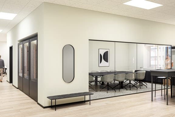 Office space fully furnished and equipped located at 225 Bush St., #1850, SF Bay Area.
