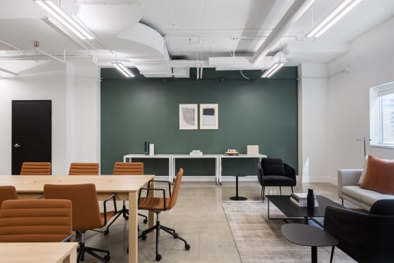 Workspace fully furnished and equipped located at 555 Richmond St. West, #410, Toronto.