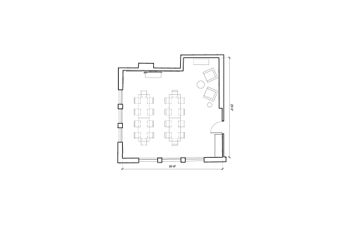Floor-plan of 1 Charlotte Street, Fitzrovia, 2nd Floor