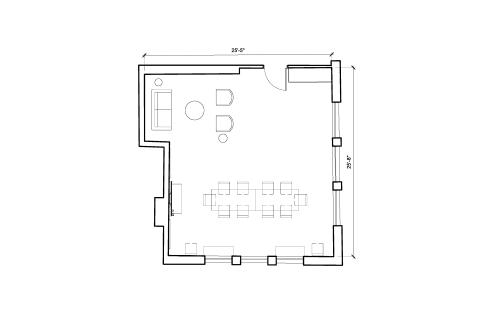 Floor-plan of 1 Charlotte Street, Fitzrovia, 3rd Floor, 1 Charlotte Street, Fitzrovia, 3rd Floor
