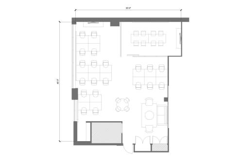 Floor-plan of 103 Richmond St. East, 2nd Floor, Suite 200