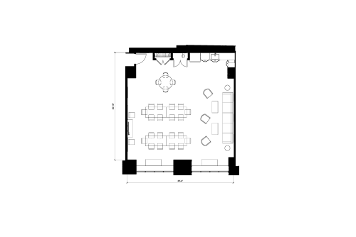Floor-plan of 11 East 44th Street, 3rd Floor, Suite 301