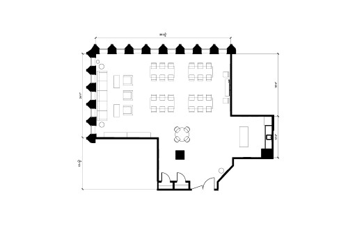 Floor-plan of 110 Yonge St., 17th Floor, Suite 1701