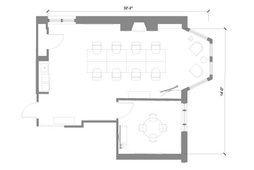 Floor-plan of 115 Newbury Street, 5th Floor, Suite 504, Room 1