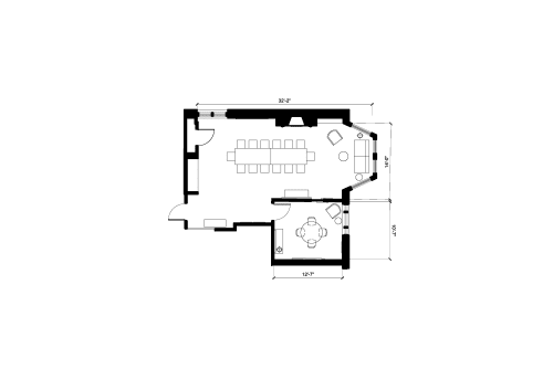Floor-plan of 115 Newbury Street, 5th Floor, Room 1
