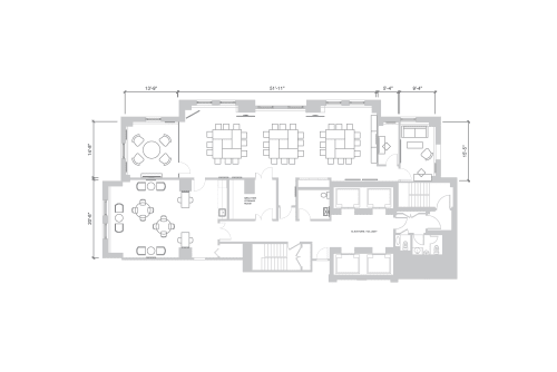 Floor-plan of 121 W. Wacker, 29th Floor, Suite 1