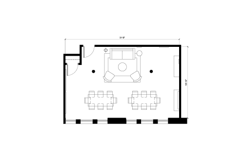 Floor-plan of 122 Hudson, 5th Floor, Suite 1