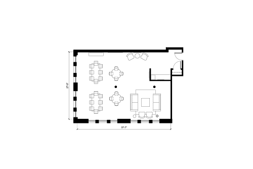 Floor-plan of 122 Hudson, 5th Floor, Suite 2