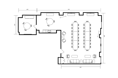 Floor-plan of 122 S. Michigan, 14th Floor, Suite 1405