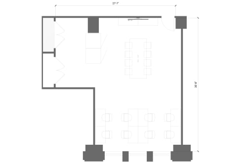 Floor-plan of 125 S. Clark, 6th Floor, Suite 675, Room 2