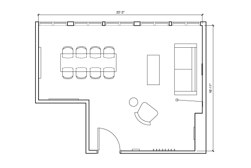 Floor-plan of 135 Bowery, 5th Floor, Suite 1
