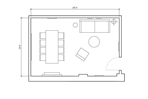 Floor-plan of 138 Wooster Street, 3rd Floor, Suite 2