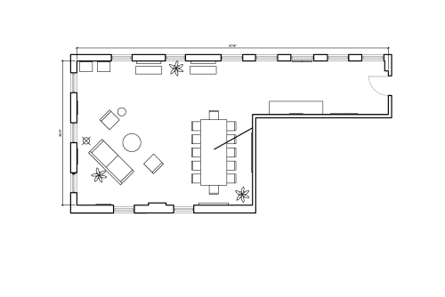 Floor-plan of 138 Wooster Street, 3rd Floor, Suite 3