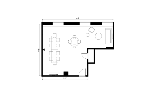 Floor-plan of 141 Adelaide St. West, 16th Floor, Suite 1670