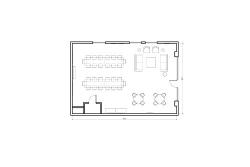 Floor-plan of 1454 25th St., 1st Floor, Suite A