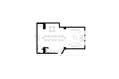 Floor-plan of 150 West 25th Street, 6th Floor, Suite 602