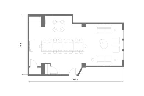 Floor-plan of 150 West 25th Street, 6th Floor, Suite 602