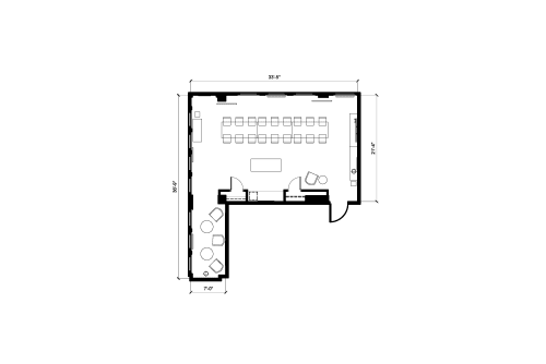 Floor-plan of 150 West 28th Street, 17th Floor, Suite 1703
