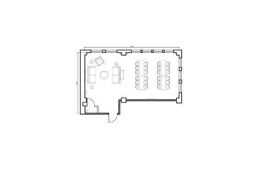 Floor-plan of 150 West 28th Street, 4th Floor, Suite 404, Room 1