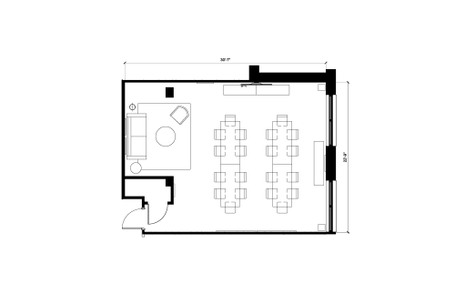 Floor-plan of 1500 W. Carroll, 1st Floor, Suite 100, Room 2
