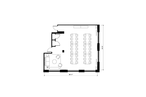 Floor-plan of 1500 W. Carroll, 1st Floor, Suite 100, Room 1