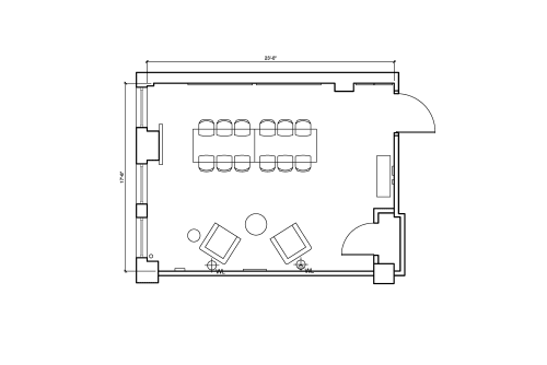 Floor-plan of 150 West 28th Street, 4th Floor, Suite 404, Room 2