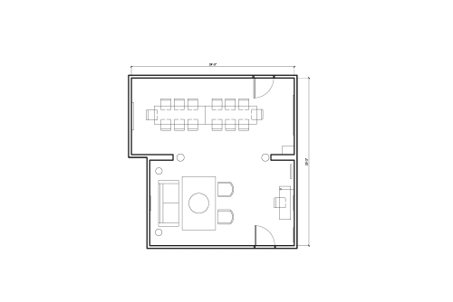 Floor-plan of 1540 7th St., 2nd Floor, Suite 208