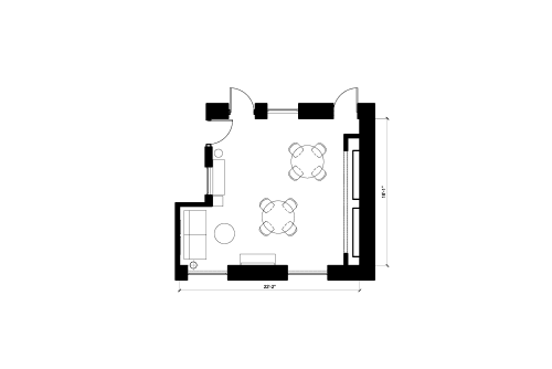 Floor-plan of 165 10th St., 1st Floor, Suite 150