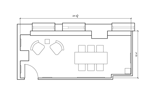 Floor-plan of 16 Court Street, 10th Floor, Suite 1018