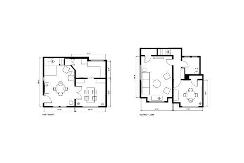 Floor-plan of 1722 1/2 Whitley Ave.
