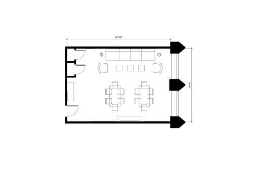 Floor-plan of 18 King St. East, 1st Floor, Suite 102