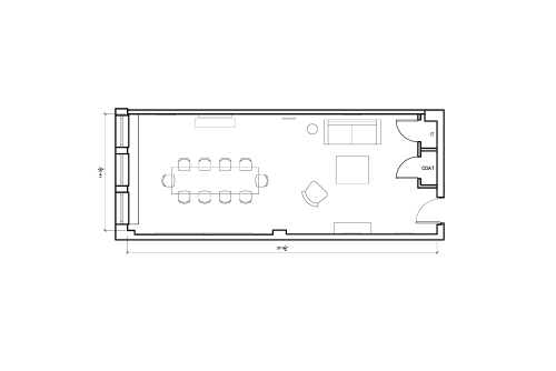 Floor-plan of 2 West 45th Street, 14th Floor, Suite 1401, Room A